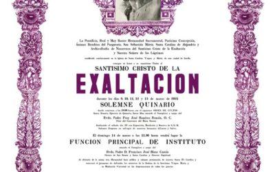 Solemnes cultos al Santísimo Cristo de la Exaltación