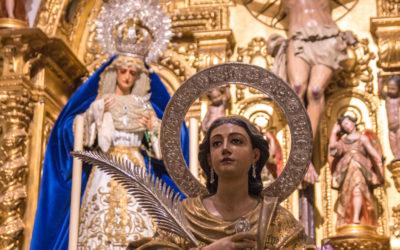 Santa Lucía en la capilla de nuestros Sagrados Titulares