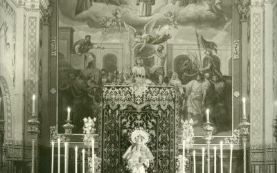 Besamanos a Nuestra Señora en San Román en 1972